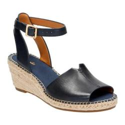 Women's Clarks Petrina Selma Ankle Strap Sandal Navy Full Grain Leather