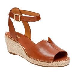 Women's Clarks Petrina Selma Ankle Strap Sandal Nutmeg Full Grain Leather