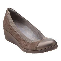 Women's Clarks Petula Sadie Cap Toe Shoe Taupe Nubuck/Leather