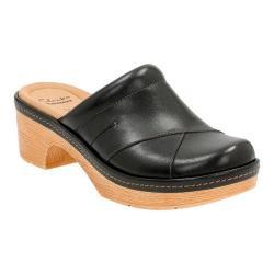 Women's Clarks Preslet Sheen Clog Black Leather