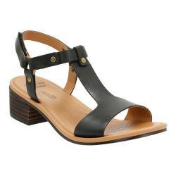 Women's Clarks Reida Ryan Ankle Strap Sandal Black Leather