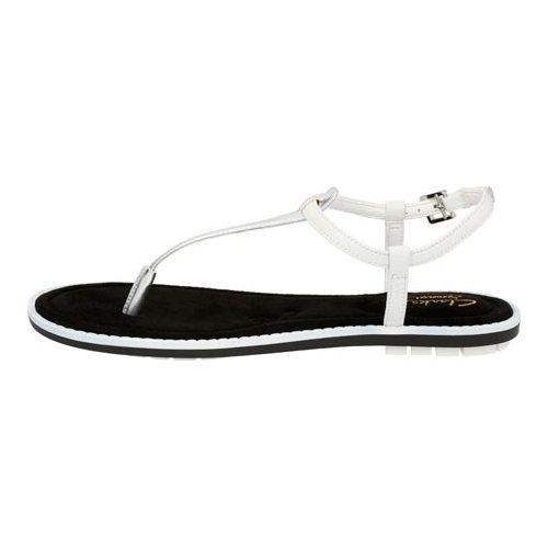 ada9a97217f ... Thumbnail Women  x27 s Clarks Seattle Spice Thong Sandal White Silver  Leather