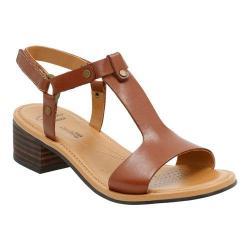 Women's Clarks Reida Ryan Ankle Strap Sandal Tan Leather