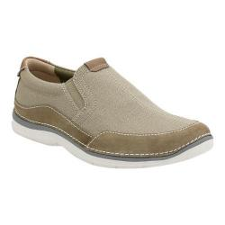 Men's Clarks Ripton Free Slip-On Olive Canvas