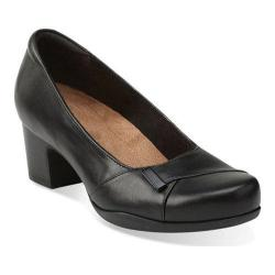 Women's Clarks Rosalyn Belle Black Leather