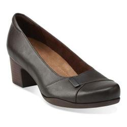 Women's Clarks Rosalyn Belle Dark Brown Leather