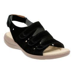Women's Clarks Saylie Witman Strappy Sandal Black Suede
