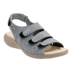 Women's Clarks Saylie Witman Strappy Sandal Blue Suede