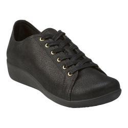 Women's Clarks Sillian Glory Walking Shoe Black Synthetic