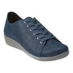 Women's Clarks Sillian Glory Walking Shoe Blue Synthetic