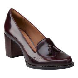 shop women's clarks tarah rosie high heel shoe burgundy