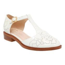 Women's Clarks Taylor Palm Closed Toe Sandal Off White Full Grain Leather