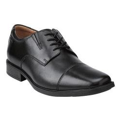 Men's Clarks Tilden Cap Toe Oxford Black Leather