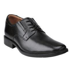 Men's Clarks Tilden Plain Toe Oxford Black Leather
