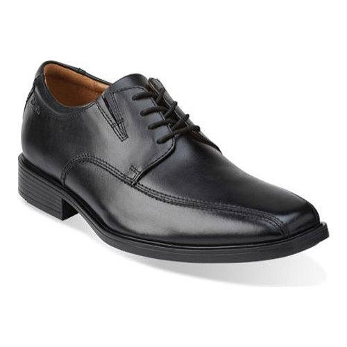 CLARKS SHOES TILDEN WALK BLACK LEATHER