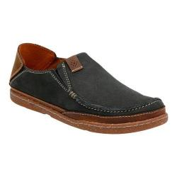 Men's Clarks Trapell Form Moc Toe Shoe Navy Nubuck