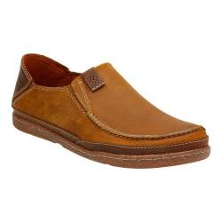 Men's Clarks Trapell Form Moc Toe Shoe Tan Leather