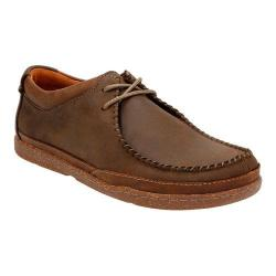 Men's Clarks Trapell Pace Moc Toe Shoe Dark Brown Leather