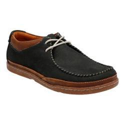 Men's Clarks Trapell Pace Moc Toe Shoe Navy Nubuck