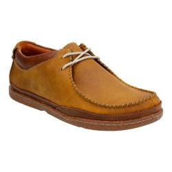 Men's Clarks Trapell Pace Moc Toe Shoe Tan Leather