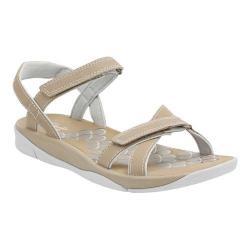 Women's Clarks Tresca Trace Ankle Strap Sandal Greystone Synthetic