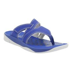 Women's Clarks Tresca Track Thong Sandal Blue Synthetic