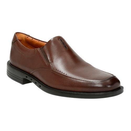 Men's Clarks Un.Bizley Lane Slip On Dark Brown Leather