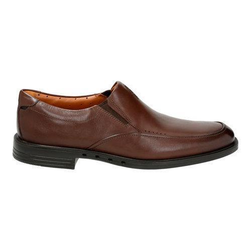 Men's Clarks Un.Bizley Lane Slip On Dark Brown Leather - Thumbnail 1