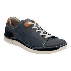 Men's Clarks Trikeyon Mix Lace Up Shoe Blue Leather