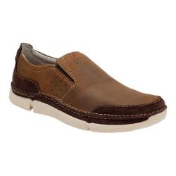 Men's Clarks Trikeyon Step Slip On Brown Leather