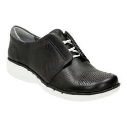 Women's Clarks Un Voltra Lace Up Shoe Black Leather