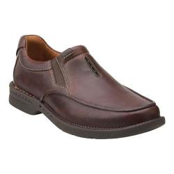 Men's Clarks Untilary Easy Slip On Brown Leather