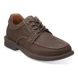 Men's Clarks Untilary Pace Moc Toe Shoe Brown Nubuck
