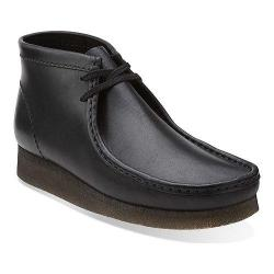 Men's Clarks Wallabee Boot Black/Black Leather