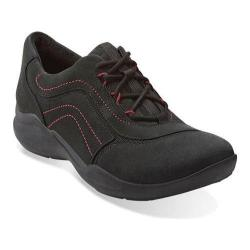Women's Clarks Wave Skip Sneaker Black Nubuck