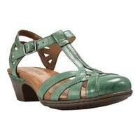 Women's Cobb Hill Aubrey Teal Full Grain Burnished Leather
