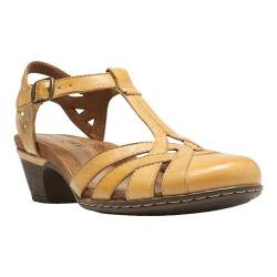 Women's Cobb Hill Aubrey Yellow Full Grain Burnished Leather