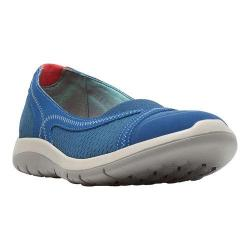 Women's Cobb Hill FitSpa Ballet Flat Blue Synthetic