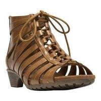 Women's Cobb Hill Gabby Gladiator Bootie Tan Full Grain Leather