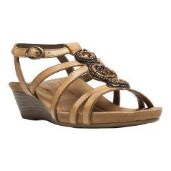 Women's Cobb Hill Hannah T-Strap Sandal Sand Full Grain Leather