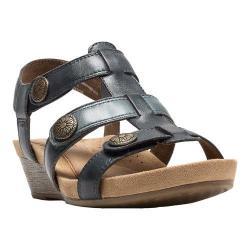 Women's Cobb Hill Harper T-Strap Sandal Blue Full Grain Leather