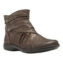 Women's Cobb Hill Pandora Ankle Boot Stone Full Grain Burnished Leather
