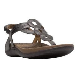 Women's Cobb Hill Ramona Thong Sandal Pewter Synthetic