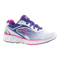 Girls' Fila Imperative Running Shoe White/Royal Blue/Pink Glow