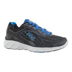 Boys' Fila Imperative Running Shoe Black/Castlerock/Electric Blue Lemonade