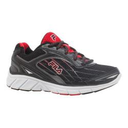 Boys' Fila Imperative Running Shoe Black/Dark Silver/Fila Red