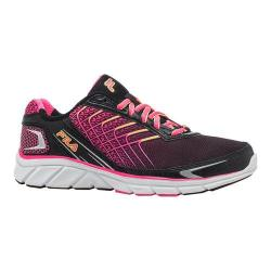 Women's Fila Memory Core Callibration 3 Running Shoe Black/Knockout Pink/Safety Yellow