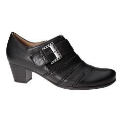 Women's Gabor 35-461 Buckle Ankle Boot Black Foulardcalf