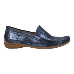 Women's Gabor 46-094 Slip On Moccasin Nightblue Metallic Leather