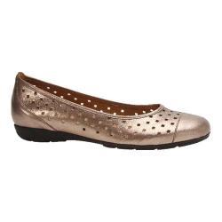 Women's Gabor 84-169 Punched Detail Ballet Flat Mutaro Metallic